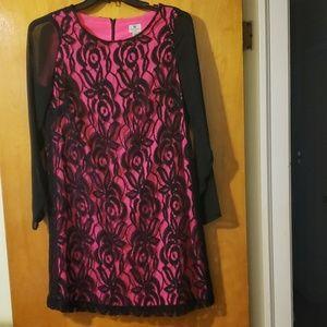 Worthington lace and sheer dress